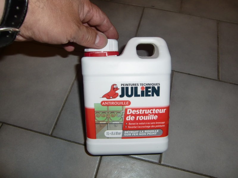 Nettoyage du r servoir rempli de rouille for Comment enlever une tache de rouille sur du carrelage