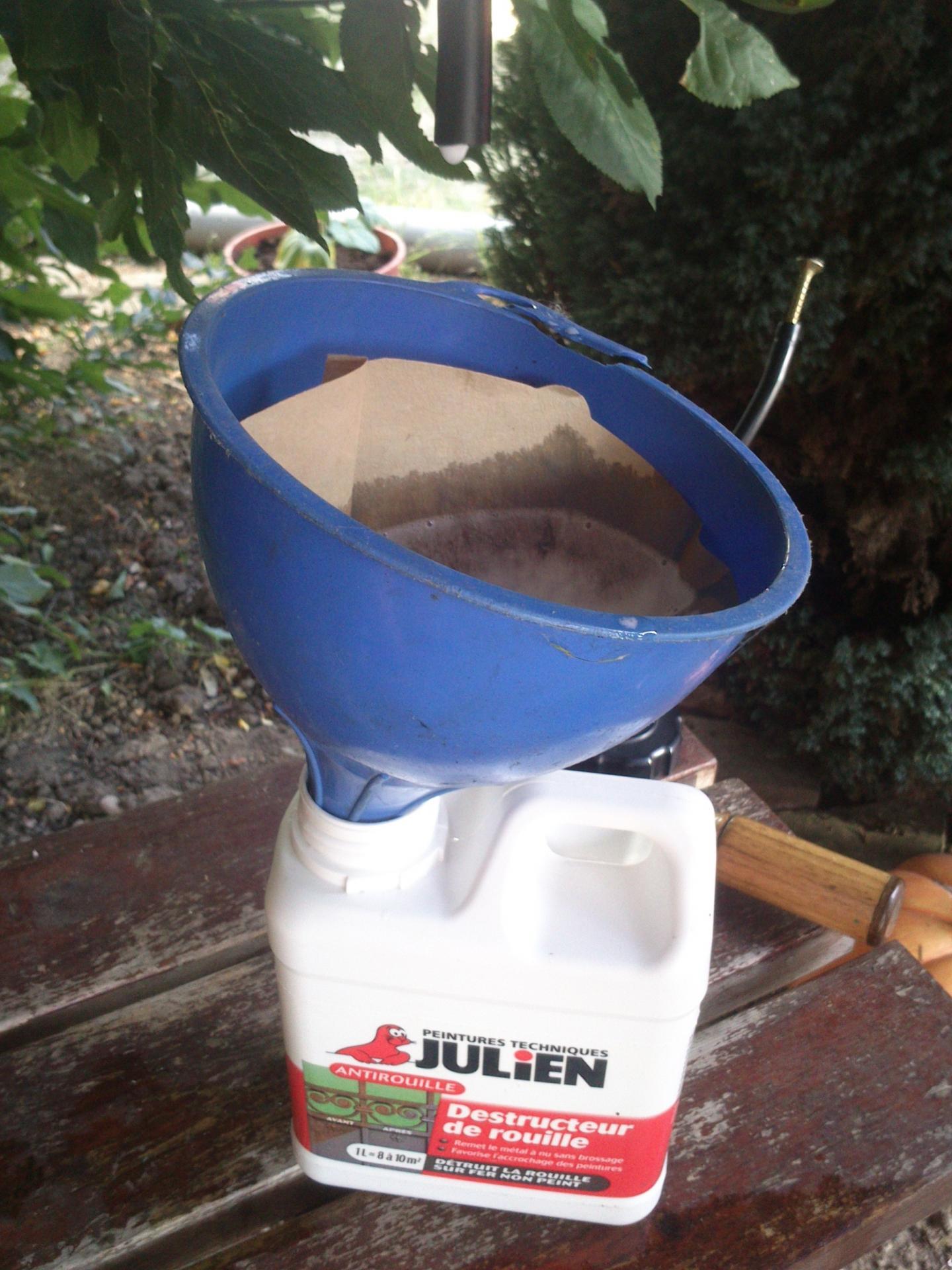 Nettoyage du r servoir rempli de rouille - Acide phosphorique rouille ...